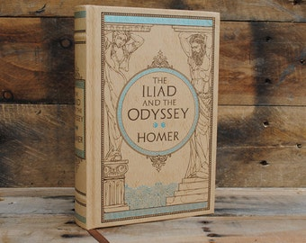 Book Safe - Iliad and Odyssey - Leather Bound Hollow Book Safe