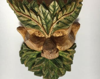 Wood carving-wood spirit-linden wood-hand carved made in Italy idea gift