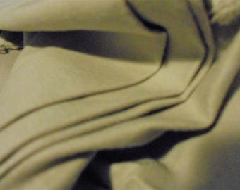 BTY Heavy duty cotton Fabric Beige for skirts Slacks Almost a smooth canvas