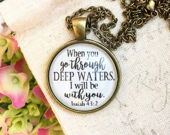Isaiah 43:2 Deep Waters Necklace