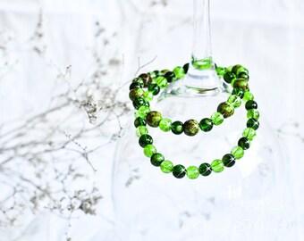 Beaded Bracelet 'Green Planet'