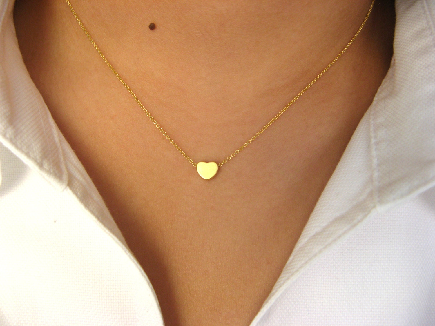 heart silver flat necklace gold infused necklaces rose