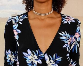 Dainty Rhinestone Choker - Diamond Choker - Crystal Choker Necklace - Bohemian Jewelry - Dainty Necklace - Dainty Jewelry / Gold Choker