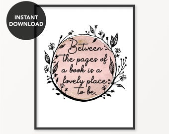 Reading Nook Quote Poster Bookish Print Instant Download Book Art Librarian Gifts For Readers English Major Gift Printable Quotes 8x10 Print