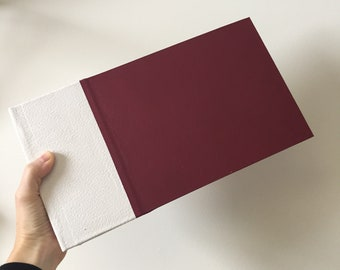 Ivory and Burgundy Instant Photo Guest Book for Weddings and Events
