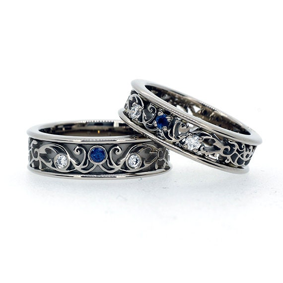 Best Wedding Bands With Sapphires Images - Styles & Ideas 2018 ...