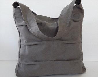 Sale - Grey Canvas Bag, shoulder bag, tote, purse, handbag, unique, stylish, messenger bag, women - Lisa