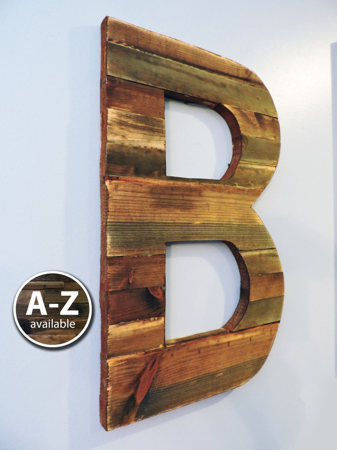 large wood letters rustic letter cutout custom wooden wall. Black Bedroom Furniture Sets. Home Design Ideas