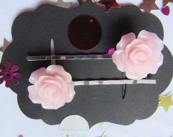 Baby Pink Rose Vintage Hair Bobby Pins