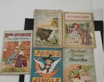 10%OFF3DAYSALE Vintage lot of 5 vintage childrens books