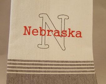 "Nebraska ""N""  Kitchen Towel"