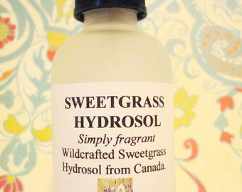 BEST SELLER - Wildcrafted Sweetgrass Hydrosol | Air Clearing | Air Freshener | Restores Positive Energy | Eliminate Negativity | Purifying