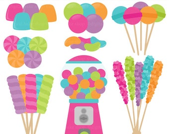 candy clip art candies clipart gumballs suckers - Candy Shoppe Digital Clip Art - BUY 2 GET 2 FREE