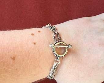 Rose toggle bracelet! SHIPS IMMEDIATELY from USA! Gifts for her!