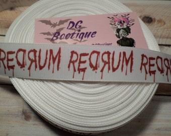 The Shining Redrum Grosgrain ribbon, Horror Grosgrain ribbon