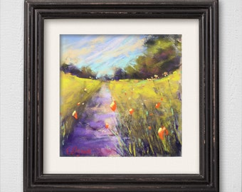 "Original Pastel Painting ""Let's Walk"""