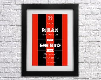 AC Milan FC Club Print