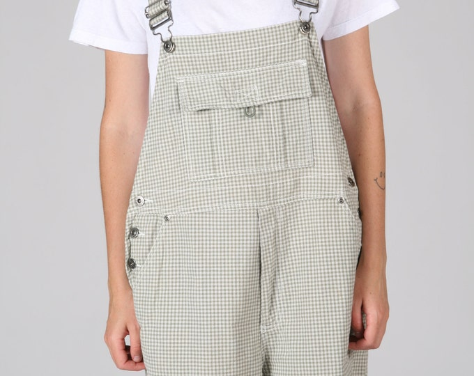 Check Cotton Overalls