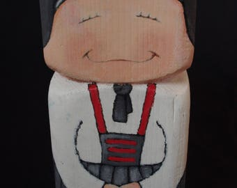 square people art doll