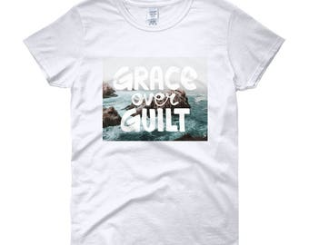 Women's 'grace over guilt' short sleeve t-shirt