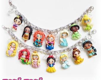 Fairy Tale Princess Bracelet, Princess Jewelry, Fairy Tale Jewelry, Princess Gift, Storybook Jewelry, Polymer Clay Princess, Daugther Gift
