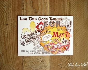 crawfish boil invitation template