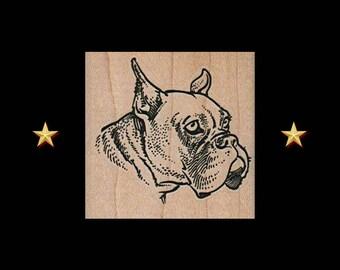 BOXER Rubber Stamp, Dog Rubber Stamp, Boxer Dog Gifts, Boxer Stamp, Boxer Party Favor, Dog Stamp, Animal Rubber Stamp, Boxer Dog, Dog Gifts