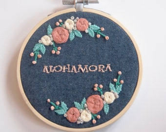 Alohamora Embroidered Hoop