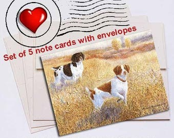 Brittany Pair Note Card Set