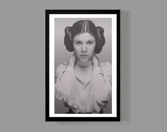 Star Wars Movie Poster Print - Princess Leia - Legendary, Iconic, Classic, 70's Memorabilia