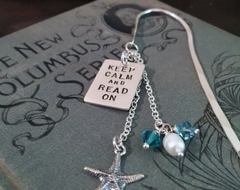 Bookmark – Keep Calm and Read On Simply Charming Sterling Silver Bookmark