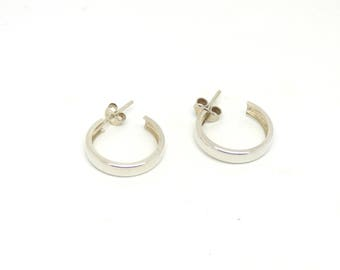 Hoop earrings ~ Stud hoops ~ Sterling silver ~ Silver hoops ~ Silver jewelry ~ Small hoops ~ Simple earrings ~ Everyday hoops ~ Gift for her