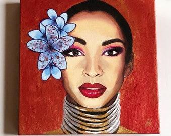 Sade - Original mixed media painting on canvas