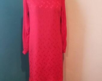Siren Red 80s I.Magnin Designer Silk Dress