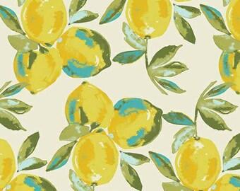 Yuma Lemon Mist - Art Gallery Sage Collection - Bari J - Southwest Lemon Fabric - Premium Cotton
