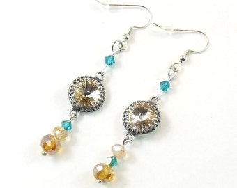Sparkling Sahara Earrings - Elegant Jewelry with Swarovski Crystals romantic