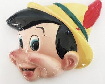 1960's Walt Disney Productions Pinocchio Wall Plaque