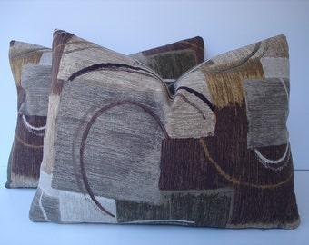 Modern Pillow Covers One Pair 12 x 16 Handmade Midcentury Urban Pillows Home Decor Lumbar Pillows Kidney Pillows Accent Pillows Throw Pillow
