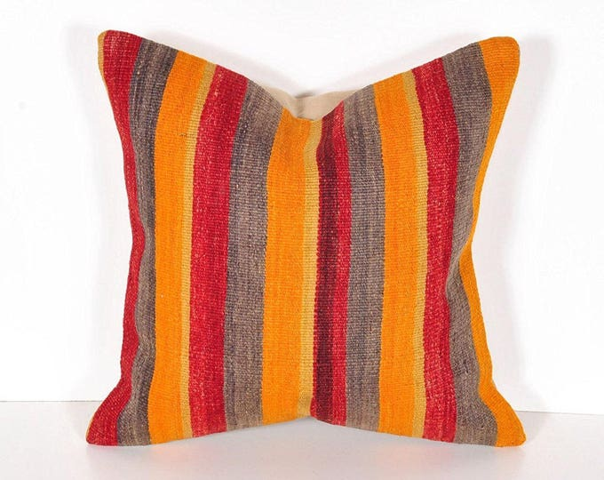 Kilim pillow cover, Kilim Pillow, Turkish Pillow, Kilim Cushions, Kilim, Moroccan Pillow, Bohemian Pillow, Turkish Kilim, KP36 (tp6-12)