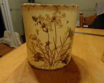 vintage pressed flower lampshades (pair)