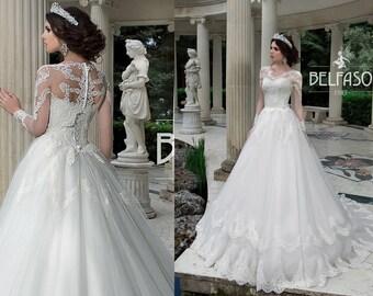 Long Sleeve Lace Wedding Dress Ballgown Sabira