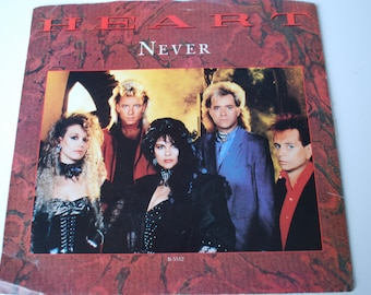 Heart Never 45rpm  record vinyl vintage 1985