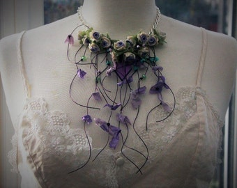 Necklace, statement necklace part of Katherine Cooper's new Spring/Summer collection 'WISTERIA COTTAGE