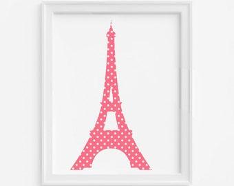 Tour Eiffel impression d'Art, estampes d'Art pour les enfants, crèche estampes, Art mural, pépinière Art mural, estampes d'Art moderne pour les enfants, enfants Wall Decor