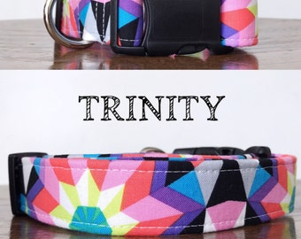 Trinity - Bright Geometric Handmade Collar