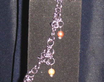 Chain Mail and Swarovski Pearl Anklet
