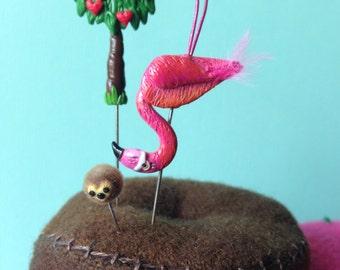 Définie de nouveaux DESIGN Alice in Wonderland Maillet de Croquet Flamingo avec balle hérisson et Queen of Hearts arbre Pin Topper