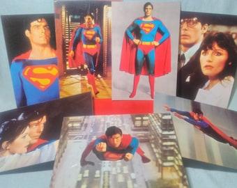 7 Original postcards of Superman 1979 brand DC unused comics.