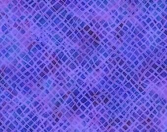 Weave Purple Blue Freeform Paintbrush Studios Fabric 1 yard