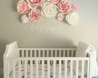 giant paper flower wall decor with roses and peonies shop